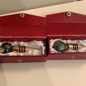 Other - 2 Piece Gemstone Wine Stoppers